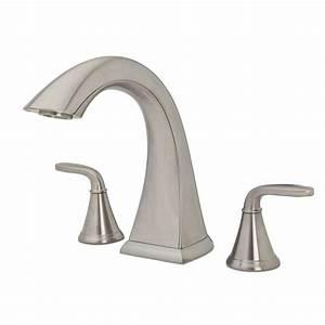pfister pasadena 2 handle high arc deck mount roman tub With pfister pasadena bathroom faucet