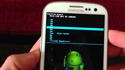 wipe android phone warning use your android phone reset system at your own