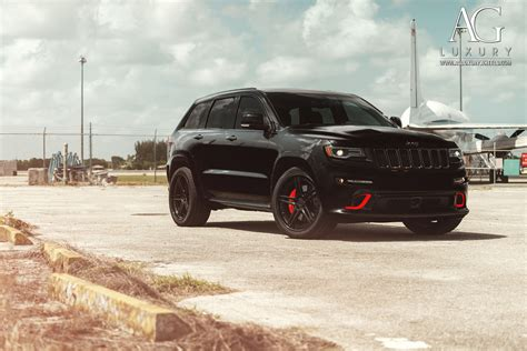 jeep cherokee black with black rims ag luxury wheels jeep grand cherokee srt forged wheels