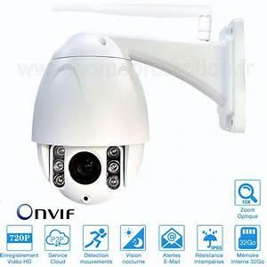 Camera Dome Exterieur Wifi : cam ra ip motoris e wifi rotation 360 degr s avec vision ~ Edinachiropracticcenter.com Idées de Décoration