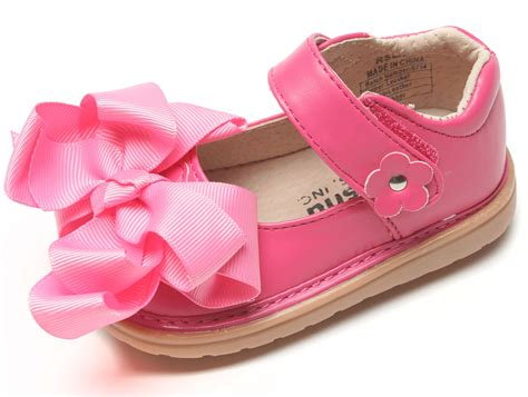 Toddler Shoes : Ready Set Mary Jane W/bow Girls Toddler Squeaky Shoes