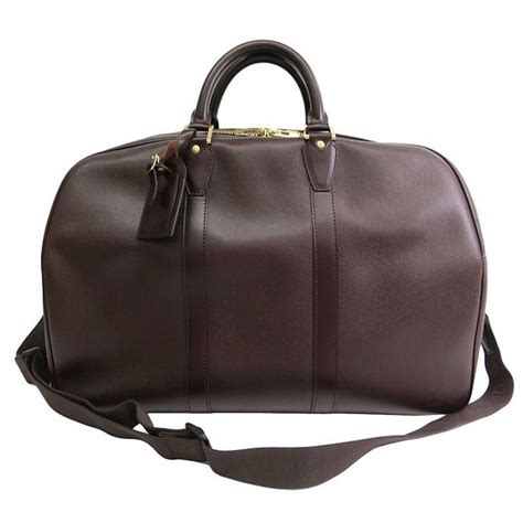 Brown Leather Travel Bag Purse Louis Vuitton Brown Leather 39 S Weekender Travel Duffle