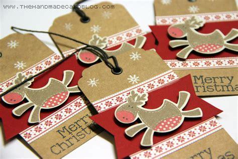 handmade christmas tags the handmade card blog