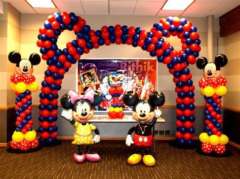 Mickey And Minnie Balloon Decorations - birthday ideas venuemonk