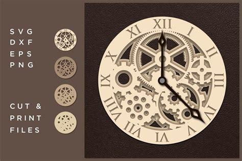 wall clock svg cut file mandala cut multilayer mandala   cut files design bundles