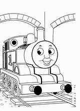 Train Coloring Thomas Pages Printable Comments sketch template