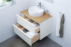 meuble sous lavabo ou vasque pour la salle de bain ikea With meuble salle de bain la boite a outils