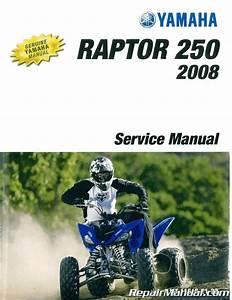 2008 Yamaha Yfm250rx Raptor Atv Repair Service Manual