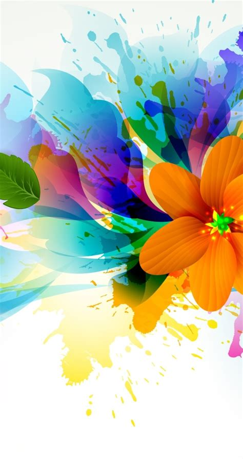 Bright flowers - Abstract colorful wallpaper