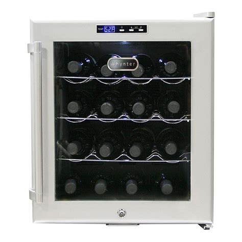 thermoelectric wine cooler whynter 16 bottle thermoelectric wine cooler wc 16s the
