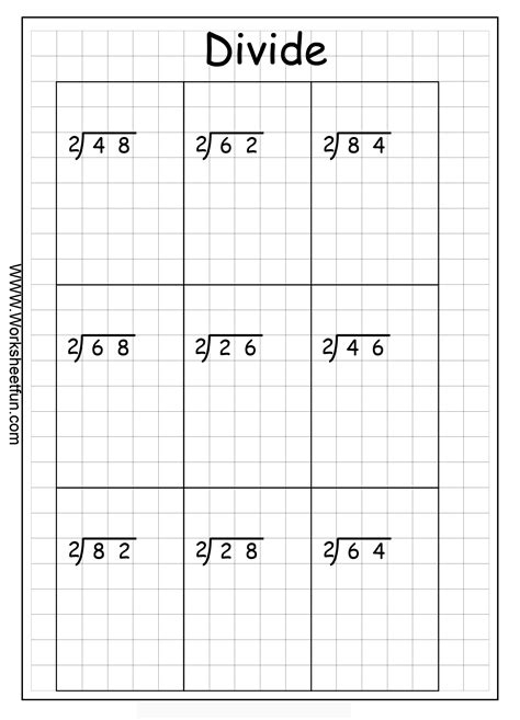 long division 2 digits by 1 digit no remainder 10