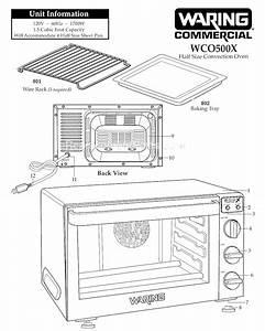 Waring Wco500x Parts List And Diagram   Ereplacementparts Com