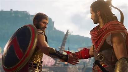 Odyssey Creed Handshake Gifs Assassin Sparta Acodyssey