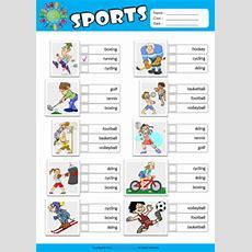 Sports Esl Printable Worksheets For Kids 2