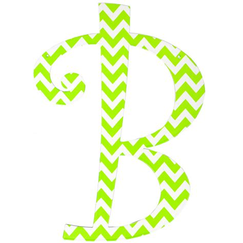 lime green chevron metal letter