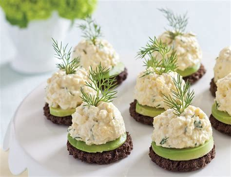 fresh canapes avocado egg salad canapés teatime magazine