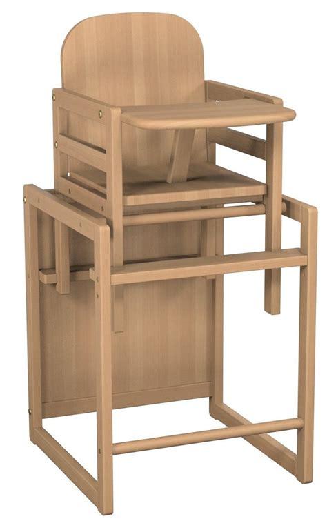 Chaise Haute Bébé Transformable Hêtre Naturel Atelier T4