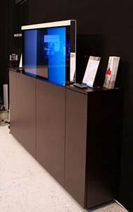 meubles tv elevateurs par sb concept blog esprit design With meuble pour cacher tv