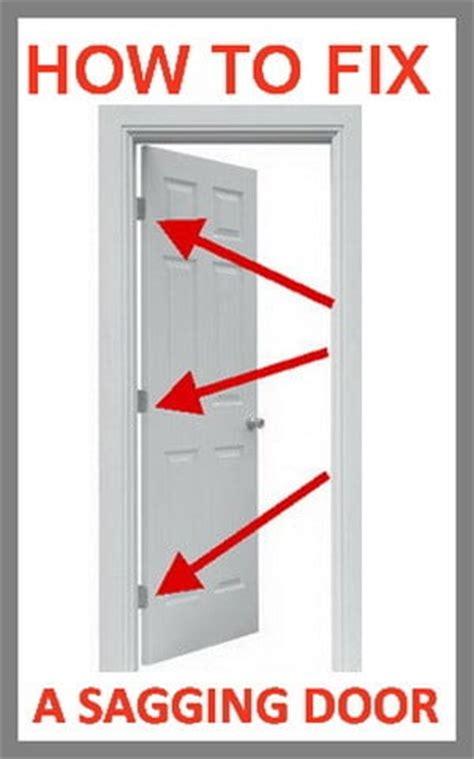 how to fix a door frame how to fix a door that is sagging or hitting the door