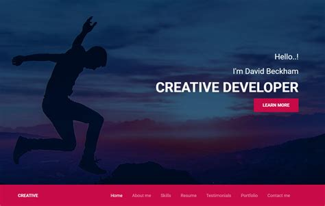 awesome web developer website template    template