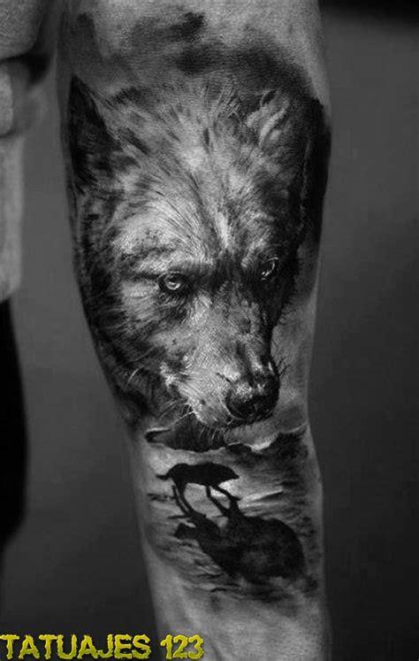 el lobo  su realismo tatuajes