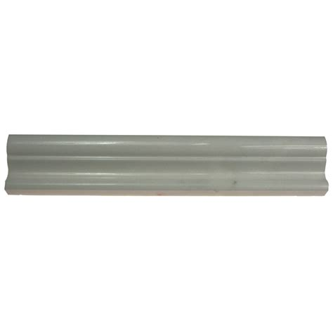 shop for chair rail white thassos polished 2x12 marble