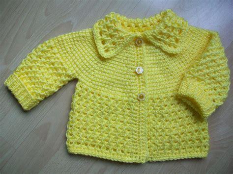 yellow tunisian crochet baby sweater  aloiv craftsy