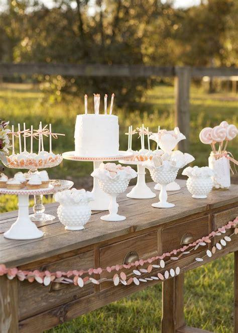 baby girl shower love  milk glass milk glass wedding