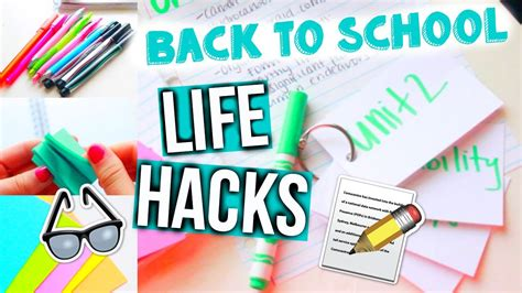 back to school hacks to hacks for back to school