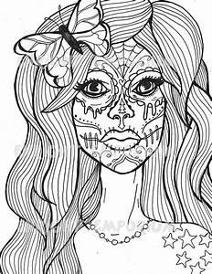 Cinco De Mayo Skull Coloring Pages
