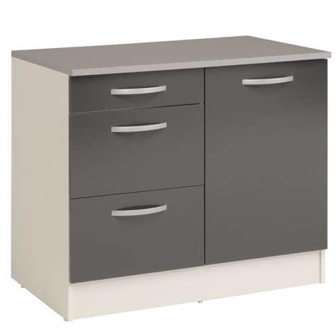 meuble cuisine avec tiroir eko gris meuble de cuisine bas pour évier avec tiroirs