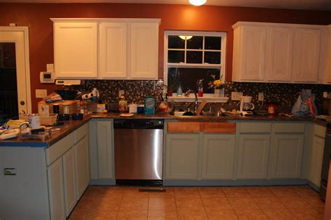 chalk painted kitchen cabinets  years