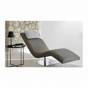 Chaise Longue De Salon : chaise longue de salon italienne cuir ou tissu san diego ~ Teatrodelosmanantiales.com Idées de Décoration