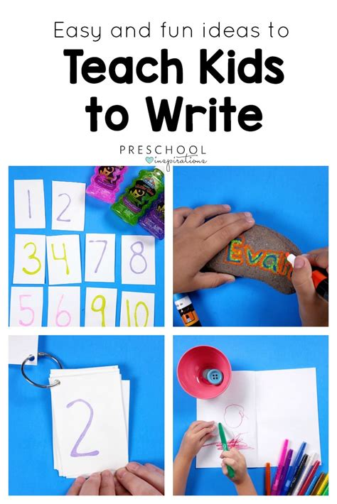 the best ways to teach to write preschool inspirations 529 | Easy and Fun Ideas to Teach Kids to Write