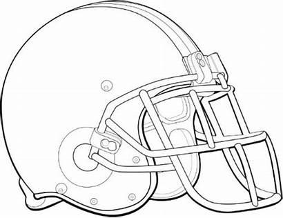 Helmet Coloring Football Pages Bowl Super Helmets