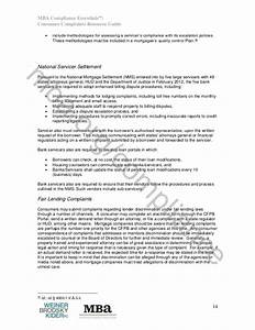 Mba Compliance Essentials  Consumer Complaints Resource Guide