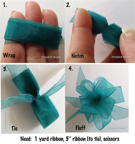 make a bow out of ribbon just4funcrafts wanna make something