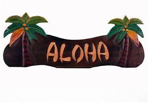 Aloha Palm Tree Sign