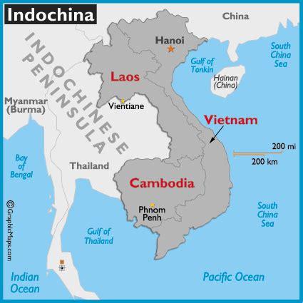 Indochina Map  World Atlas