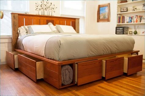 king size captains bed   drawers woodworking