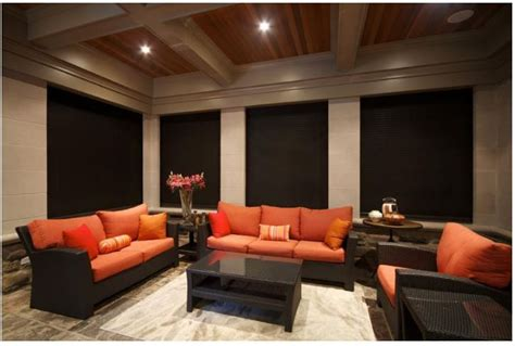 rollshutters  perfectly black   home theater room  images home theater rooms