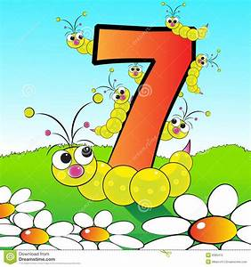 Numbers Serie For Kids 07 Stock Photography Image
