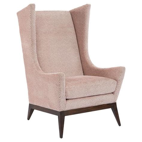 ionia retro modern pink upholstered wing chair kathy kuo