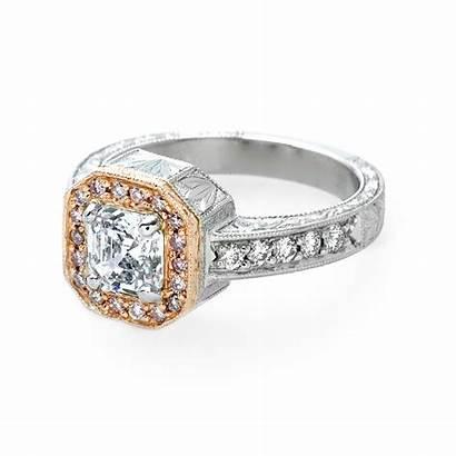 Ring Engagement Diamond Pink Halo Ester Rings