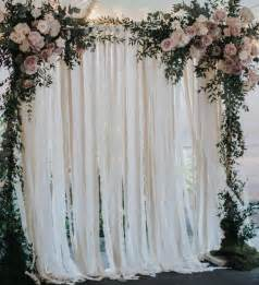 indoor wedding arch cotton fabric wedding backdrop