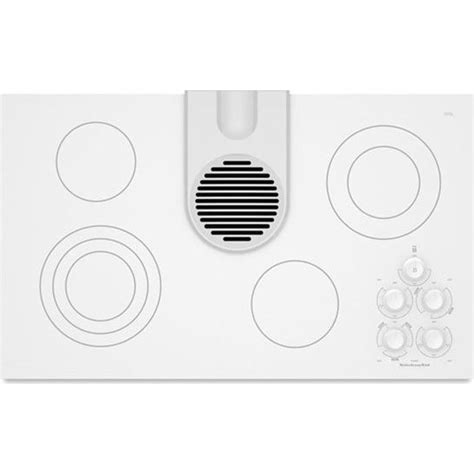 electric cooktop with vent kitchenaid kecd866rww 36 quot smoothtop electric cooktop with