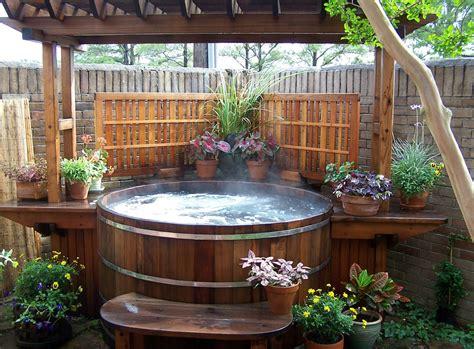 Hot Tub : Cedar Wood Hot Tubs Custom Wood Hot Tubs Electric Or Gas Heat