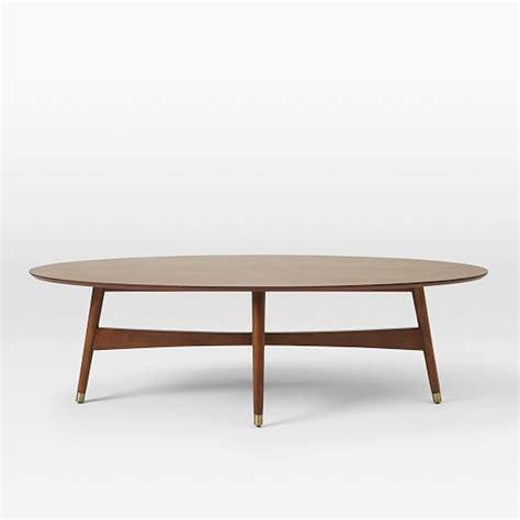 west elm mid century table reeve mid century oval coffee table pecan west elm