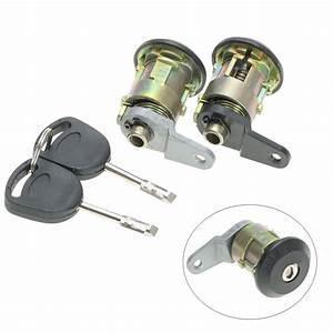 1 Set Front Door Lock Barrel Keys Set For Ford For Fiesta