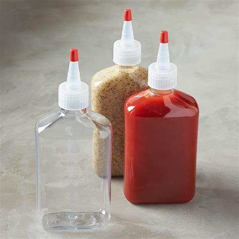 fancy reusable condiment squeeze bottles